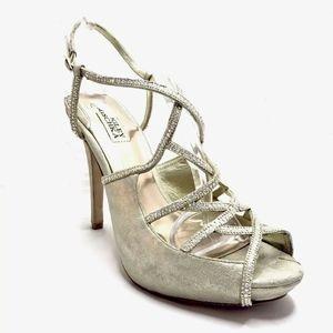 Badgley Mischka Platform Heels Embellished